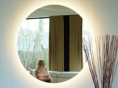 Specchio rotondo in vetro a specchio con illuminazione integrata da parete°ECLIPSE - EDEN DESIGN