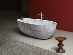 Vasca da bagno centro stanza ovale in marmo di CarraraECLIPSE | Vasca da bagno in marmo di Carrara - ANTONIO LUPI DESIGN®