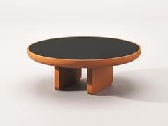 Tavolino rotondo in legno e vetroECO | Tavolino in legno e vetro - BABATO 1934