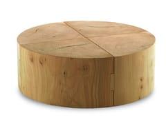 Tavolino rotondo in legno massello ECO BLOCK | Tavolino rotondo -