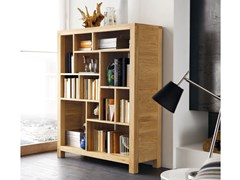 Libreria a parete autoportante in legno masselloECO | Libreria - ALTA CORTE