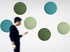 Pannello fonoassorbente colorato e leggero a parete ECOBUBBLE | Pannello decorativo acustico - ECOrange