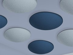 Pannello fonoassorbente colorato e leggero a soffitto ECOBUBBLE | Pannello decorativo acustico in fibra sintetica - ECOrange
