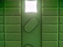 Pannello acustico a parete in fibra di poliestereECODESK | Pannello acustico a parete - SLALOM