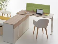 Pannello divisorio da scrivania in fibra di poliestere ECODESK JOLLY - ECOrange
