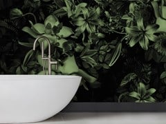Baboon, EDEN Carta da parati con motivi floreali per bagno