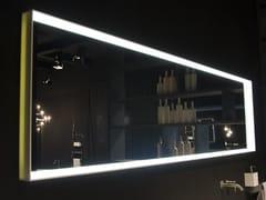 RIFRA, EDGE Specchio per bagno da parete con cornice in Corian