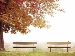 Panchina in legno con schienaleEDO | Panchina - VESTRE