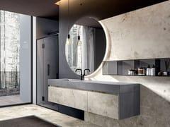 CERAMICA FONDOVALLE, EDONÈ - ACTION Mobile lavabo sospeso in gres porcellanato