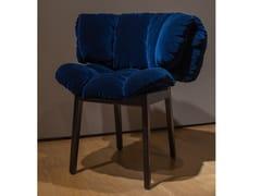 Sedia imbottita con braccioliEDRA - BLUE VELVET - ARCHIPRODUCTS.COM