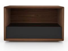 Tavolino alto rettangolare in noce con vano contenitore EDWARD | Tavolino alto - Edward