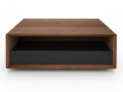 Tavolino rettangolare in noce con vano contenitore EDWARD | Tavolino rettangolare - Edward