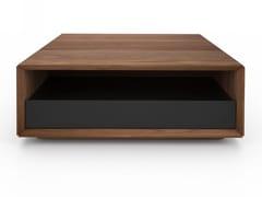Tavolino quadrato in noce con vano contenitore EDWARD | Tavolino quadrato - Edward