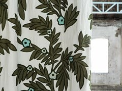Tessuto ricamato a mano in lino con motivi florealiEFFIGIE - LAS POZAS - ÉLITIS