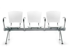 Seduta a barra con braccioli in acciaio e polipropileneEINA | Seduta su barra - ENEA