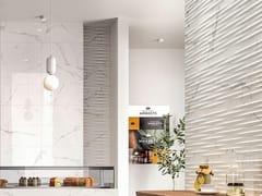 Rivestimento tridimensionale in ceramica effetto marmoELEGANCE | Str. Drape 3D Statuario - MARAZZI GROUP