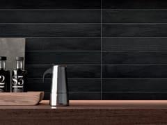 Pavimento/rivestimento in gres porcellanato effetto legnoELEMENTO NERO - CERAMICHE MARCA CORONA