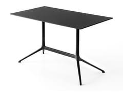 Tavolo rettangolare in alluminio pressofuso con piano a ribalta ELEPHANT | Tavolo rettangolare - Elephant