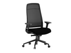 Sedia ufficio ad altezza regolabile in tessuto a 5 razze con braccioliELIO - ERSA MOBILYA