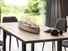 Caminetto da tavolo in acciaio inox e vetro a bioetanoloELIPSE BASE - SPARTHERM® FEUERUNGSTECHNIK