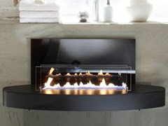Caminetto in acciaio inox e vetro a bioetanolo a pareteELIPSE WALL - SPARTHERM® FEUERUNGSTECHNIK