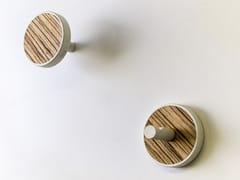 Coppia di appendiabiti in legno pregiato ELITE ZEBRANO - INVERSO