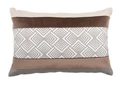 Cuscino rettangolare in cotone a motivi geometriciELLE 102-17 - L'OPIFICIO