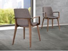 Sedia imbottita con braccioliELLEN | Sedia con braccioli - PACINI & CAPPELLINI