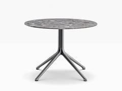Tavolino rotondo in alluminio pressofuso con base a 4 razzeELLIOT 5475 H500 - PEDRALI