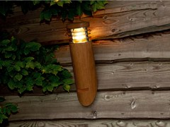 Lampada da parete per esterno a luce diretta in teakELLIPES WALL - ROYAL BOTANIA