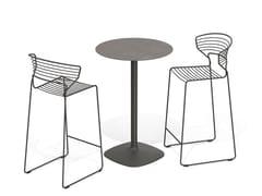 Tavolo alto rotondo in ceramicaELLIS | Tavolo - DESALTO