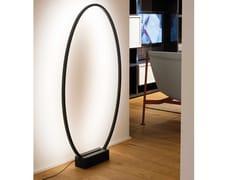 Lampada da terra a LED a luce indiretta in alluminioELLISSE | Lampada da terra - NEMO