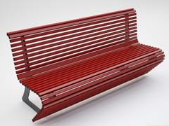 Panchina laccata in acciaio con schienale ELODIE | Panchina in acciaio - Elodie