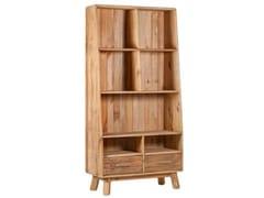 Libreria a giorno autoportante in legno massello con cassettiELYSIUM - ARREDIORG