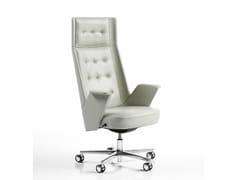 Poltrona ufficio direzionale in pelle con schienale alto EMBRASSE | Poltrona ufficio direzionale con schienale alto - Embrasse