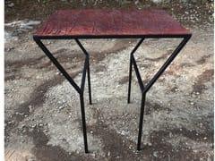 Tavolo alto rettangolare in acciaioEMPREINTES | Tavolo alto - ICI ET LÀ