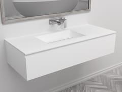 Mobile lavabo singolo sospeso con cassettiTEXAS | Mobile lavabo singolo - RILUXA
