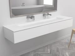 Mobile lavabo doppio sospeso con cassettiGEORGIA | Mobile lavabo - RILUXA