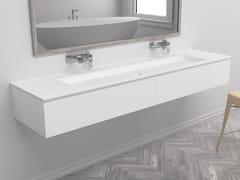 Mobile lavabo doppio sospeso con cassettiINDIANA | Mobile lavabo - RILUXA