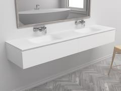 Mobile lavabo sospeso con cassettiNEVADA | Mobile lavabo doppio - RILUXA
