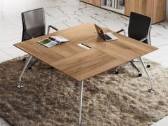 Tavolo da riunione quadrato ENOSI EVO | Tavolo da riunione quadrato - Enosi Evo
