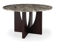 Tavolo da pranzo rotondo per contract ENZO | Tavolo in materiali cementizi -