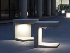 Calzolari, EOS Seduta singola in calcestruzzo armato con corpo illuminante