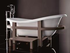 Vasca da bagno centro stanza ovale su piedi in legno EPOCA ONE TOP - Vasche in stile classico