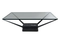 Tavolino quadrato in vetroEQUILIBRE - ROCHE BOBOIS