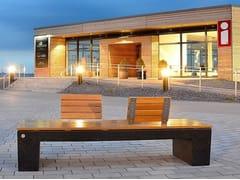 Panchina in legno con schienale ERACLEA LEGNO - Eraclea