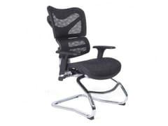 Sedia ufficio a sbalzo ergonomica in reteERGO 750 - ARREDIORG
