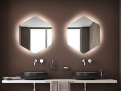 KOH-I-NOOR, ESAGONO LED AMBIENTE Specchio da parete con illuminazione integrata