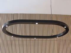 Lampada a sospensione a LED fatta a mano in metalloESPACE OVAL - BERTI BARCELONA