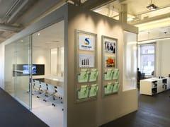 Espositore a parete in alluminio per opuscoliEspositore per opuscoli da parete - STUDIO T